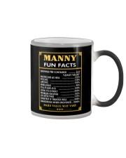 Manny fun facts Color Changing Mug thumbnail
