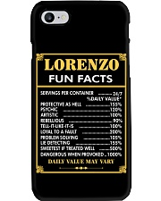 Lorenzo fun facts Phone Case thumbnail