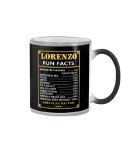 Lorenzo fun facts Color Changing Mug thumbnail