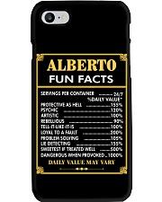 Alberto fun facts Phone Case thumbnail