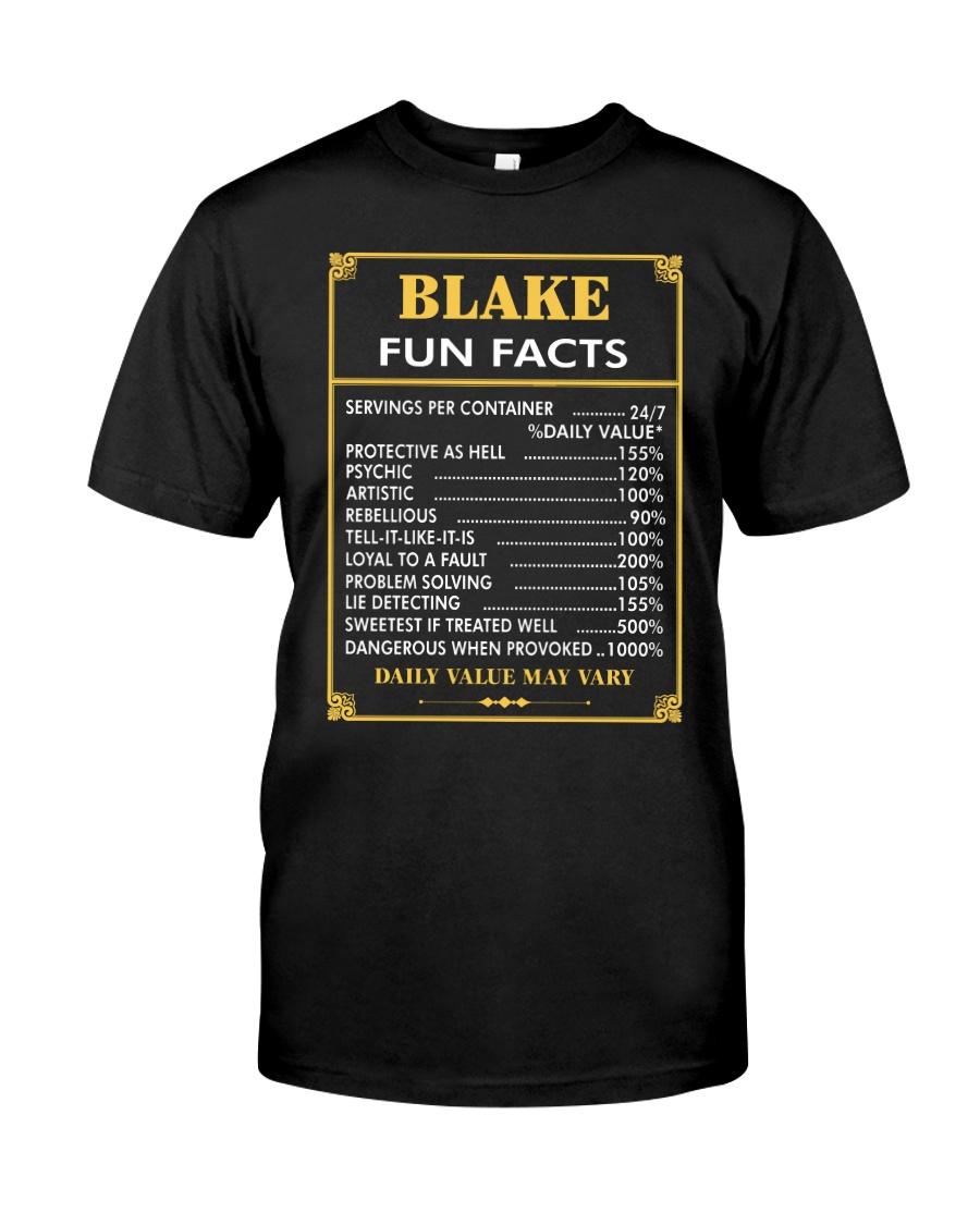 Blake fun facts Classic T-Shirt