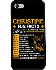 Christine Fun Facts Phone Case tile