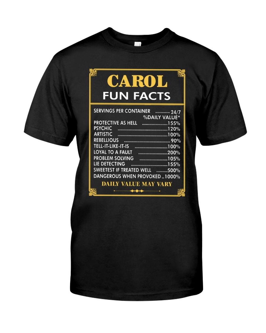 Carol fun facts Classic T-Shirt