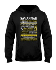 Savannah - Sweet Heart And Warrior Hooded Sweatshirt thumbnail