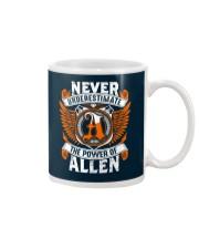 NEVER UNDERESTIMATE THE POWER OF ALLEN Mug thumbnail