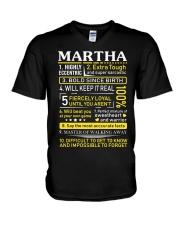 Martha - Sweet Heart And Warrior V-Neck T-Shirt thumbnail