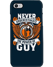 NEVER UNDERESTIMATE THE POWER OF GUY Phone Case thumbnail
