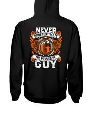 NEVER UNDERESTIMATE THE POWER OF GUY Hooded Sweatshirt thumbnail