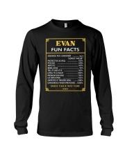 Evan fun facts Long Sleeve Tee thumbnail