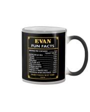 Evan fun facts Color Changing Mug thumbnail