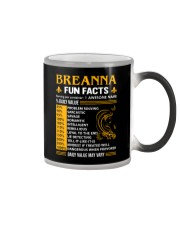Breanna Fun Facts Color Changing Mug tile