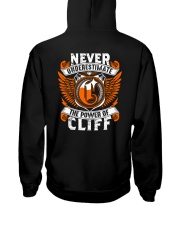 NEVER UNDERESTIMATE THE POWER OF CLIFF Hooded Sweatshirt thumbnail