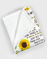"""To my daughter - With love and kisses Large Fleece Blanket - 60"""" x 80"""" aos-coral-fleece-blanket-60x80-lifestyle-front-08"""