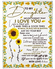 """To my daughter - With love and kisses Large Fleece Blanket - 60"""" x 80"""" front"""