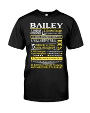 Bailey - Sweet Heart And Warrior Classic T-Shirt front