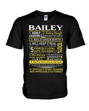 Bailey - Sweet Heart And Warrior V-Neck T-Shirt thumbnail