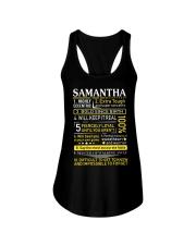 Samantha - Sweet Heart And Warrior Ladies Flowy Tank thumbnail