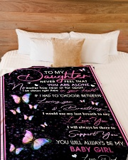 """To my daughter - Love - Dad Large Fleece Blanket - 60"""" x 80"""" aos-coral-fleece-blanket-60x80-lifestyle-front-02"""