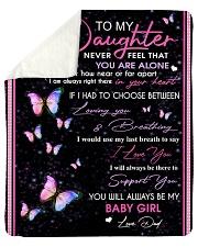 "To my daughter - Love - Dad Sherpa Fleece Blanket - 50"" x 60"" thumbnail"
