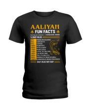 Aaliyah Fun Facts Ladies T-Shirt thumbnail