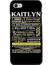 Kaitlyn - Sweet Heart And Warrior Phone Case thumbnail
