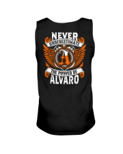 NEVER UNDERESTIMATE THE POWER OF ALVARO Unisex Tank thumbnail