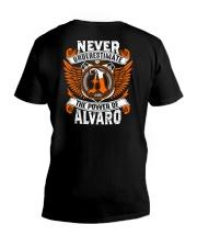 NEVER UNDERESTIMATE THE POWER OF ALVARO V-Neck T-Shirt thumbnail