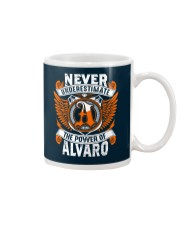 NEVER UNDERESTIMATE THE POWER OF ALVARO Mug thumbnail