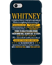 WHITNEY - COMPLETELY UNEXPLAINABLE Phone Case thumbnail