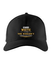 WHITE - Thing You Wouldnt Understand Embroidered Hat front