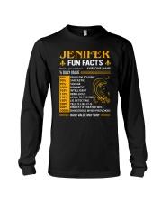 Jenifer Fun Facts Long Sleeve Tee thumbnail