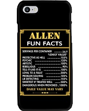 Allen fun facts Phone Case thumbnail