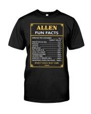Allen fun facts Classic T-Shirt front