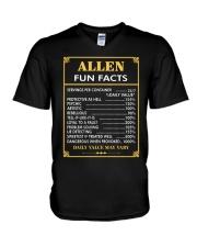 Allen fun facts V-Neck T-Shirt thumbnail