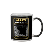 Allen fun facts Color Changing Mug thumbnail