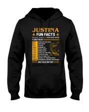 Justina Fun Facts Hooded Sweatshirt thumbnail