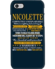 NICOLETTE - COMPLETELY UNEXPLAINABLE Phone Case thumbnail
