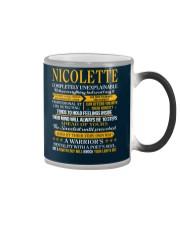 NICOLETTE - COMPLETELY UNEXPLAINABLE Color Changing Mug thumbnail