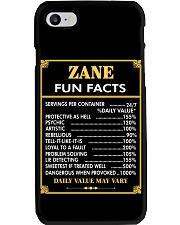 Zane fun facts Phone Case thumbnail