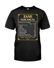 Zane fun facts Classic T-Shirt front