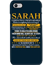 SARAH - COMPLETELY UNEXPLAINABLE Phone Case thumbnail