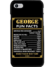 George fun facts Phone Case thumbnail