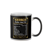 George fun facts Color Changing Mug tile
