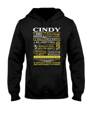 Cindy - Sweet Heart And Warrior Hooded Sweatshirt thumbnail