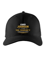 JOHNSON - Thing You Wouldn't Understand Embroidered Hat front