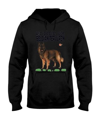 BELGIAN TERVUREN DOG CAT CHRISTMAST T-SH