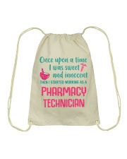 I started working as a pharmacy technician Drawstring Bag thumbnail