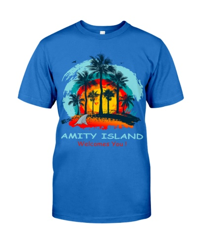 Amity Island Welcomes You Jaws Retro Movie 70's 80