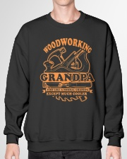 Dad Grandad Gift T-Shirt Woodworking Grandpa Crewneck Sweatshirt garment-crewneck-sweatshirt-front-01