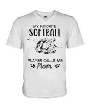 My Favorite Softball Player Calls Me Mom T-Shirt V-Neck T-Shirt thumbnail